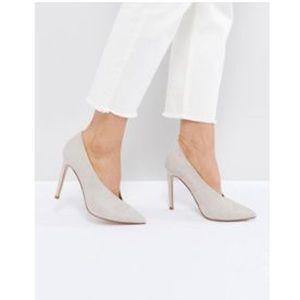 Never worn ASOS nude high heels